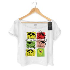 T-Shirt Feminina Premium Magali 50 Anos Evolução Colors