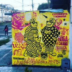 """Experimenta y reinarás. Proyecto Zeta / @galeriabeta  #txcm #toxicomano #toxicomanocallejero #streetart #stencil #bogota #bogotastreetart #beagleboys…"""