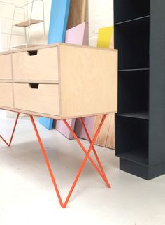 Leonard sideboard in pale grey / &New - Modern British Furniture