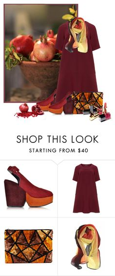"""""""POMEGRANATE...#CONTESTENTRY #background #polyvore"""" by fashionlibra84 ❤ liked on Polyvore featuring Robert Clergerie, Manon Baptiste and Chanel"""