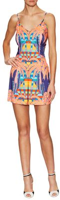 Fitted Printed Romper - Shop for women's Romper - mirage navy Romper