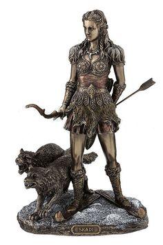 - Skadi - Norse Goddess Of Winter, Hunt And Mountains, Bronze Finish #WU76984A4