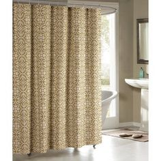 Bath Studio Allure Shower Curtain Color Taupe