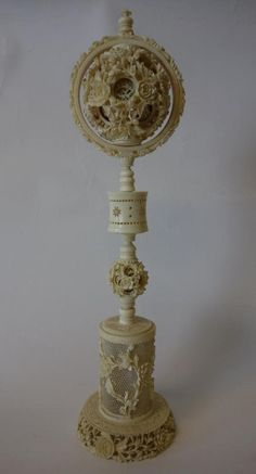 Chinese Carved Ivory Puzzle Ball - Bing images