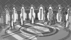 throne room concept fantasy minecraft gemt fra