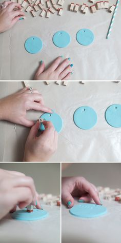DIY | stamped ombre clay escort ornaments