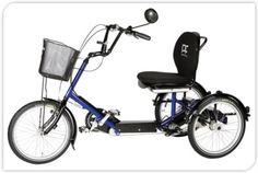 De  DISCO maakt je weer onafhankelijk en mobiel en geeft je de vrijheid om te oefenen en om je dagelijkse boodschappen te doen wanneer je wil.   De  DISCO wordt aanbevolen voor mensen die niet meer op een gewone fiets kunnen rijden. Het stoeltje zorgt voor een goed zitcomfort. Verkrijgbaar bij scootmobiel Bob. Dit model is ook geschikt voor zowel volwassenen als kinderen met een lichamelijke beperking