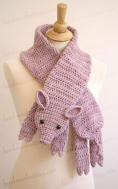pig crochet on Pinterest Crochet Pig, Pigs and Scarf Crochet