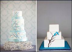 hand painted wedding cake!