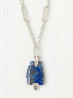 Free People Raw Stone Pendant, like the link chain effect