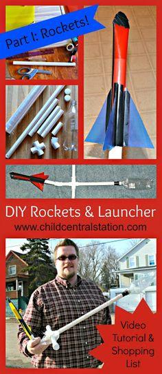 DIY PVC Pipe Rocket Launcher and File Folder Rockets Part I: Rockets! | Child Central Station