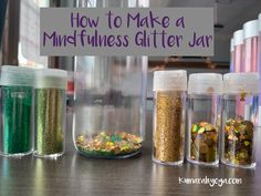 Glitter Calm Down Jar DIY. How to make a glitter jar to teach your kids about mindfulness, breathing, and self-reflection. Use Calm Down bottles, or sensory bottles to help kids if they are stressed, upset or worried. Easy to make and fun to use! Teaching Mindfulness, Mindfulness For Kids, Mindfulness Activities, Calm Down Jar, Calm Down Bottle, Calming Bottle, Glitter Jars, Glitter Calming Jar, Sensory Bottles