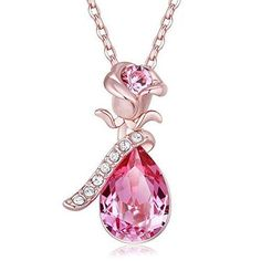 Shop a great selection of FAPPAC Flower Pendant Necklace Enriched Swarovski Crystals, Rose Gold Plated - Pink. Find new offer and Similar products for FAPPAC Flower Pendant Necklace Enriched Swarovski Crystals, Rose Gold Plated - Pink. Diamond Jewelry, Gold Jewelry, Jewelery, Jewelry Accessories, Jewelry Design, Luxury Jewelry, Diamond Choker, Accessories Online, Bijoux Or Rose