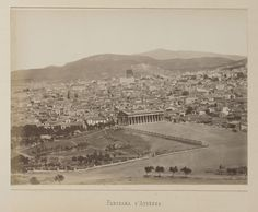 Vue générale de la ville d'Athènes, panorama, épreuve n°                     2/6 © Musée Guimet, Paris, Distr. Rmn / Image Guimet Panorama, Art Asiatique, Paris Skyline, Images, Photos, Album, Travel, 19th Century, Photographs