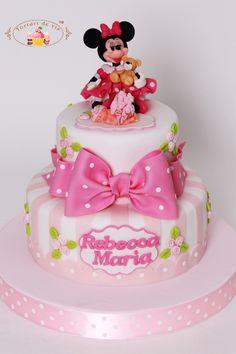 Tort botez cu Minnie Mouse pentru Rebecca Maria