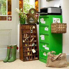 Customise your filing cabinet | Home office organising - 10 country-style ideas | housetohome.co.uk