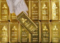 68 BARRAS DE ORO: Barras de oro en Tokio. Si compraste oro en marzo de 2009, cuando el mercado de valores tocó fondo tras la crisis de la vivienda, el valor de su inversión se habrá incrementado un 80% a partir del 31 de enero de 2012.