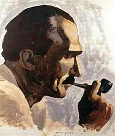"""""""How shall we love God? By loving the people. And how shall we love the people? By working at leading them into the right road. And which is the right road? The road upwards ~ Nikos Kazantzakis, """"The Greek Passion"""" Caricatures, Crete Island, Greek Culture, Painter Artist, Portraits, Greek Art, Artist Gallery, Conceptual Art, Dark Art"""