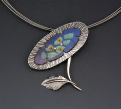 Enameled necklaces - W Walsh Designs
