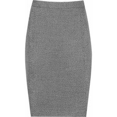 Gabrielle Skirt GREY/BLACK PENCIL SKIRT ($170) ❤ liked on Polyvore featuring skirts, pencil skirt, grey skirt, knee length pencil skirt, gray skirt and grey pencil skirt