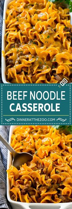 Beef Noodle Casserole Recipe | Ground Beef Casserole | Beef and Egg Noodles #casserole #groundbeef #noodles #cheese #dinner #dinneratthezoo