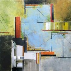 Ginny Herzog's paintings are easily recognizable for their architectural elements. She has built a successful business by using her signature style to reach out to an audience who relates well to it – architects, designers and builders.