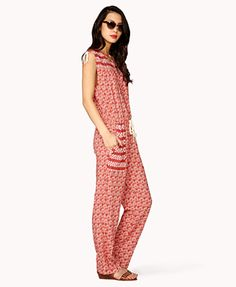 Floral & Paisley Drawstring Jumpsuit | FOREVER 21| already purchased.