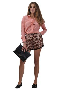 Sonia by Sonia Rykiel shirt and shorts, Red Valentino bag and shoes