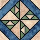 Stained Glass Hole in the Wheel Quilt Block Pattern