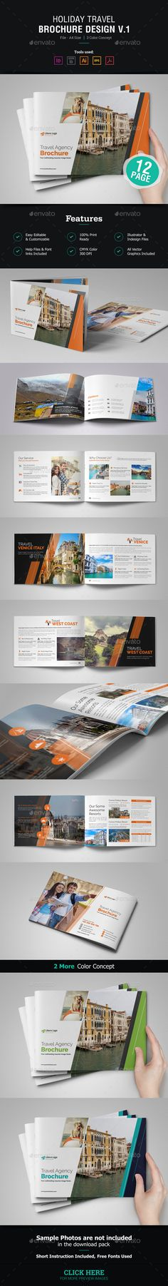 Resume Booklet Design (InDesign) v2 Design dellu0027opuscolo - sample travel brochure