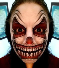 evil jester painted faces