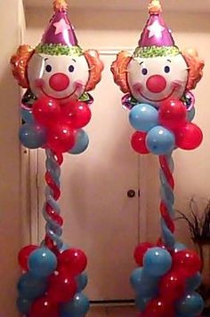 Clown Columns by balloonmagiccreations.com