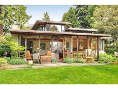 Vancouver Heritage Foundation - Mid Century Modern Tours, includes brochures from the previous house tours. Home Design Decor, House Design, Rambler Remodel, Heritage Foundation, Coffee Shop Design, House Elevation, Exterior House Colors, My Dream Home, House Tours
