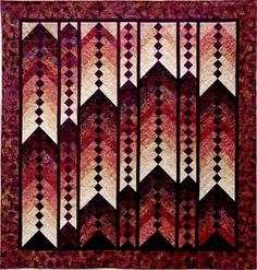 """Mountain Morning"", 82 x 82"",  by Lynda Wolf. 2013 Quilters Anonymous show. Design inspired by 'French Braid Quilts' by Jane Handy Miller"