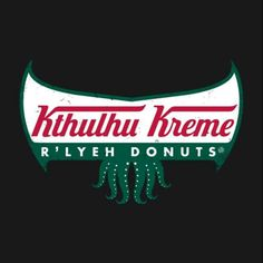 Shop R'lyeh Donuts cthulhu t-shirts designed by pigboom as well as other cthulhu merchandise at TeePublic. Lovecraft Cthulhu, Hp Lovecraft, Eldritch Horror, Lovecraftian Horror, Call Of Cthulhu, Cool Books, Dark Lord, Old Ones, Tentacle