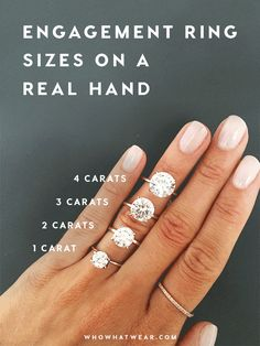 What an engagement ring will really look like on your hand.