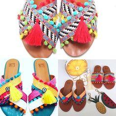 Os Pompons são a cara do verão! ☀️ olha só essas sandálias da @hits_calcados que lindas!!  #hak #calcados #pompom #pom #trend #tendencia #shoes #cores #rasteirinha #verao #2017