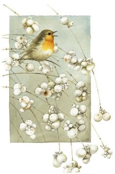 Little bird on a branch ~ Marjolein Bastin