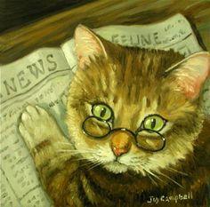 """News Cat"" par Joy Campbell"