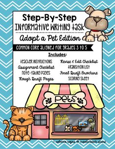 Step-By-Step Informative Writing Tasks: Adopt a Pet