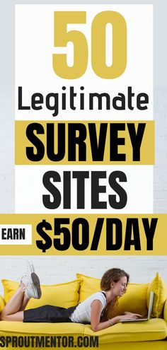 Taking surveys is one of the most legit ways to make money online while you work from home. Here are some of the best online survey sites that pay. #surveys #surveysites #Paidsurveysites #makemoneysurveys #makemoneyonline #onlinejobs #workfromhomejobs #sidejobs