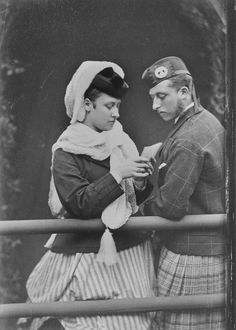Princess Louise and Prince Arthur, September 1870 [in Portraits of Royal Children Vol.15 1870-71] | Royal Collection Trust