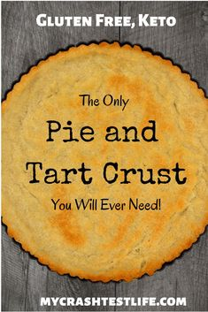 With only 5 ingredients this crust can be used as a pie shell or a tart crust. Shortbread in texture and taste this crust requires only almond flour salt stevia butter and an egg. Gluten Free Keto and simple this will quickly become your go to crus Low Carb Desserts, Gluten Free Desserts, Gluten Free Recipes, Keto Recipes, Paleo Sweets, Paleo Food, Delicious Desserts, Yummy Food, Healthy Recipes