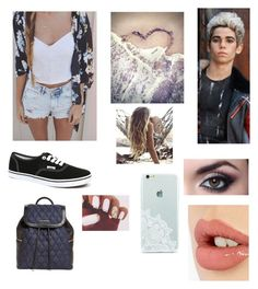 """""""Date with Cameron Boyce"""" by loverof5sosxxx ❤ liked on Polyvore featuring Vans, Surfer Girl, Vera Bradley and Charlotte Tilbury"""
