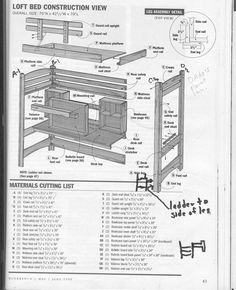 free loft bed design plans loft bed plans for free kreg jig owners community
