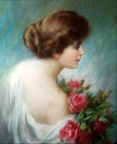~ Zula Kenyon ~ Deansville,1873-1947: My Luv's Like A Red, Red Rose #white