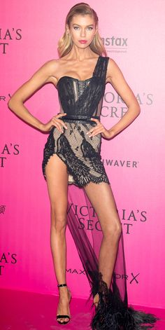 15 Jaw-Dropping Looks from the Victoria's Secret Fashion Show After-Party - Stella Maxwell from InStyle.com