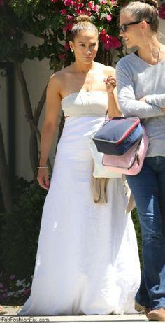 Jennifer Lopet street style - summer white maxi dress