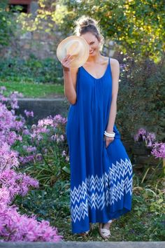 that bird label Bonnie Maxi Dress - Garden Maze Print in Blue - Womens Maxi Dresses - Birdsnest Online Clothing Store