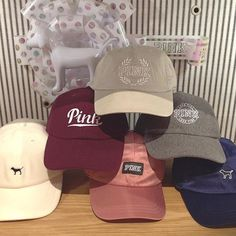 We can\'t get enough of these hats stop by & get one before they\'re gone #pink #victoriassecret #vspinknorthstar #vspink